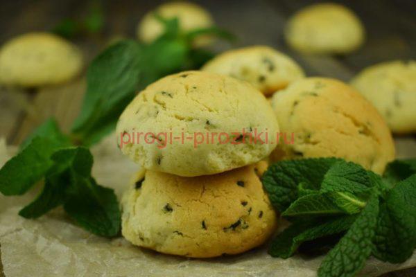 Песочное печенье с мятой